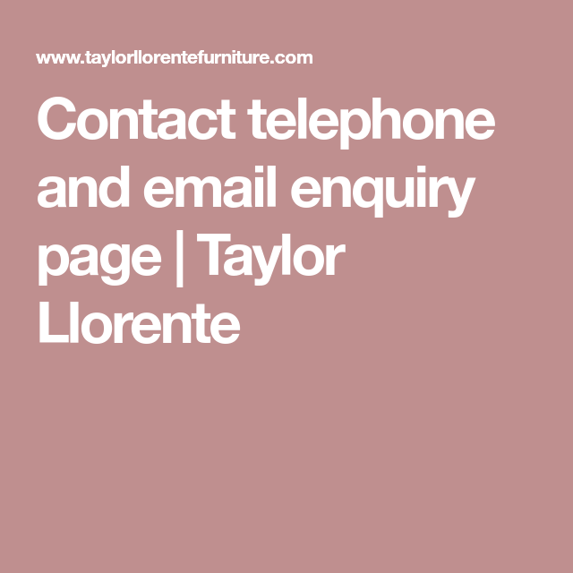 Contact Telephone And Email Enquiry Page
