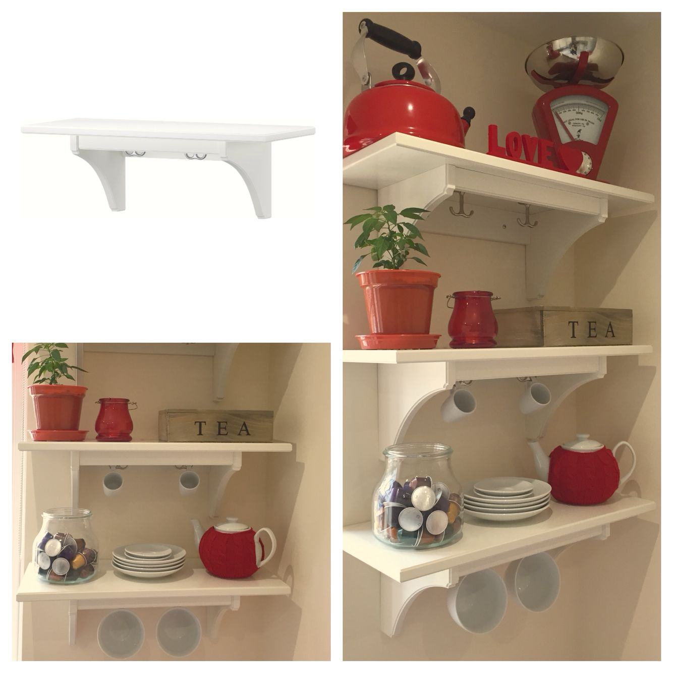 Ideas For Blank Kitchen Wall: IKEA Stenstorp Shelves X 3 = Perfect Addition To Our