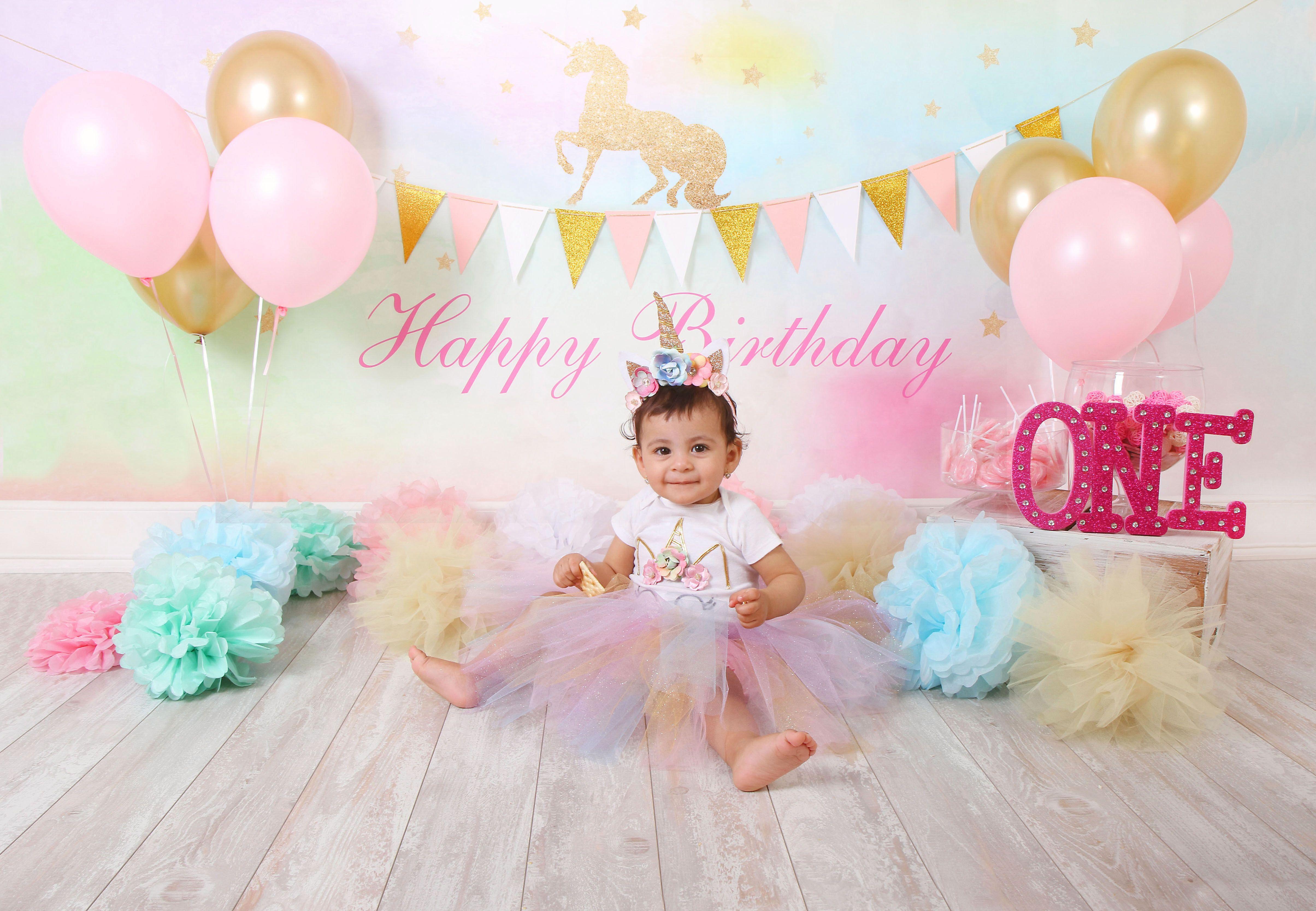 Smash Cake Fotografo En NYC Blue Birthday 1 Year Olds