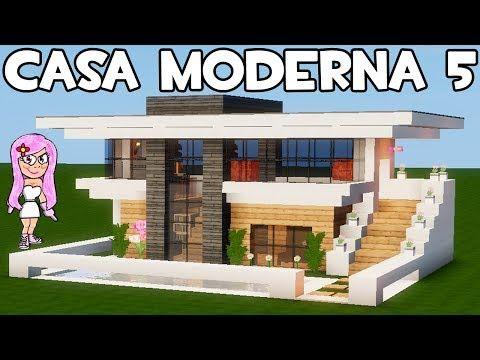 Mansi n moderna 2 en minecraft parte 2 como hacer y for Como aser una casa moderna y grande en minecraft