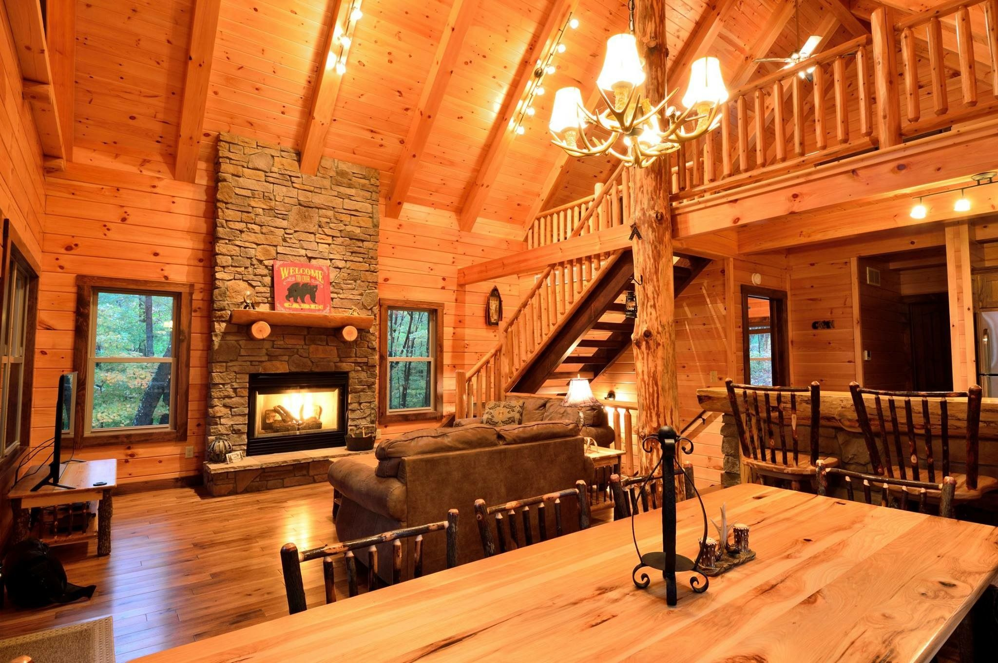 Pin By Amzel George Ball On My Future Home Cabin Fireplace