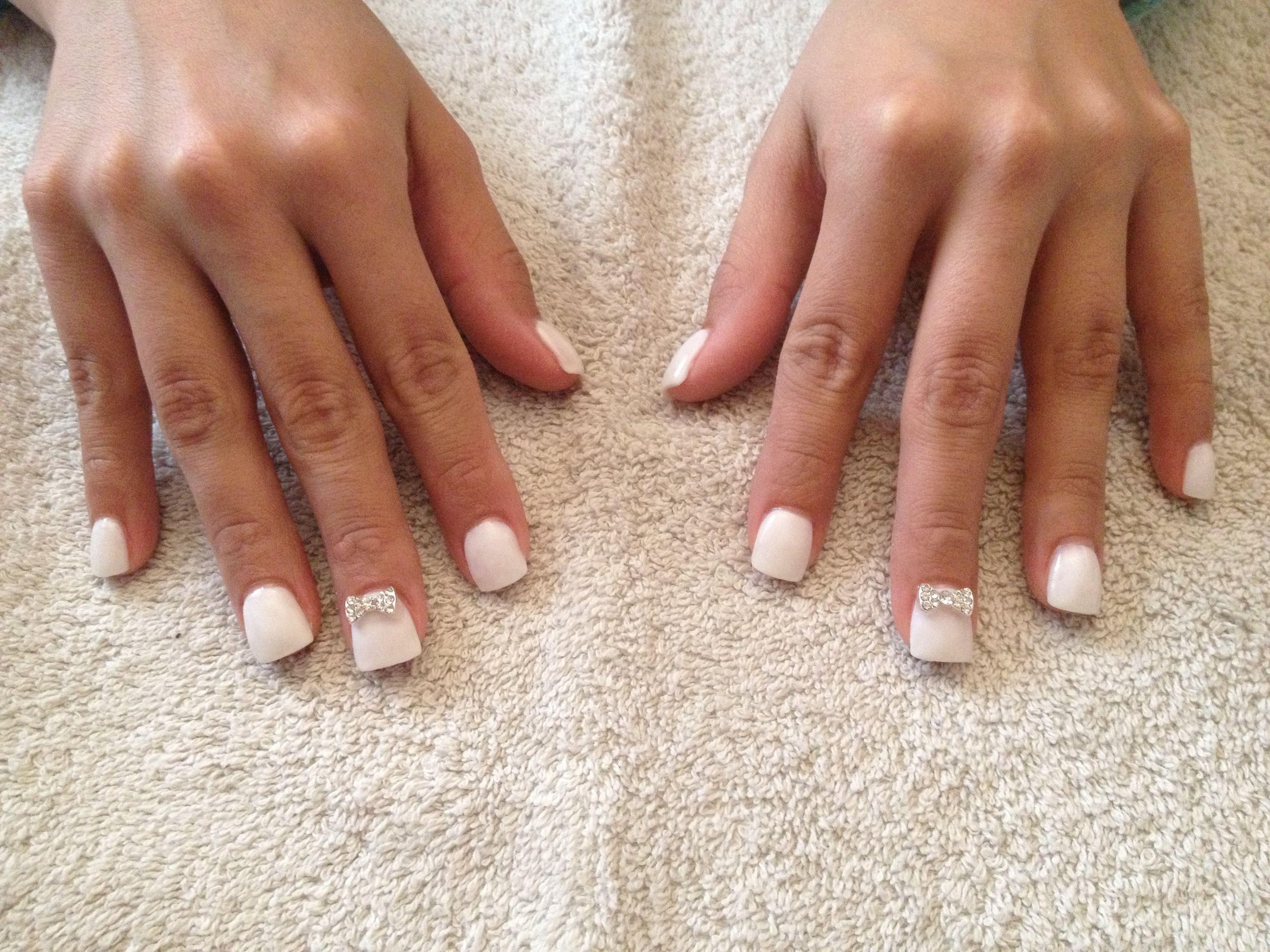 White & bow