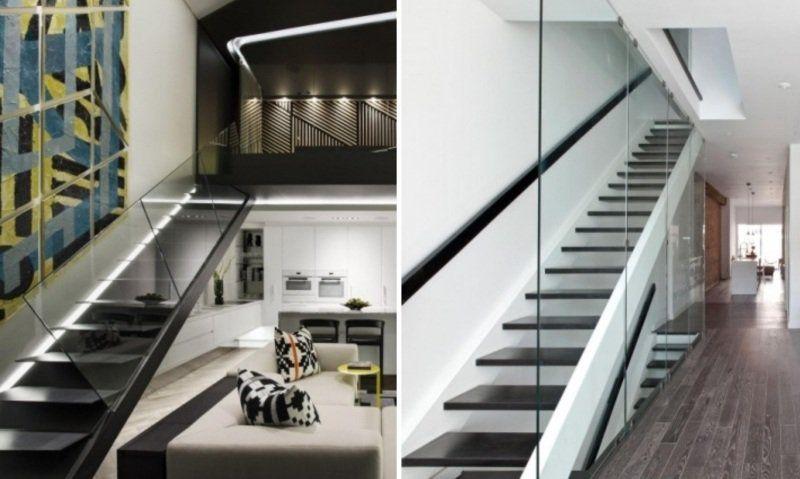 Escalier moderne – 115 modèles design tournants ou droits
