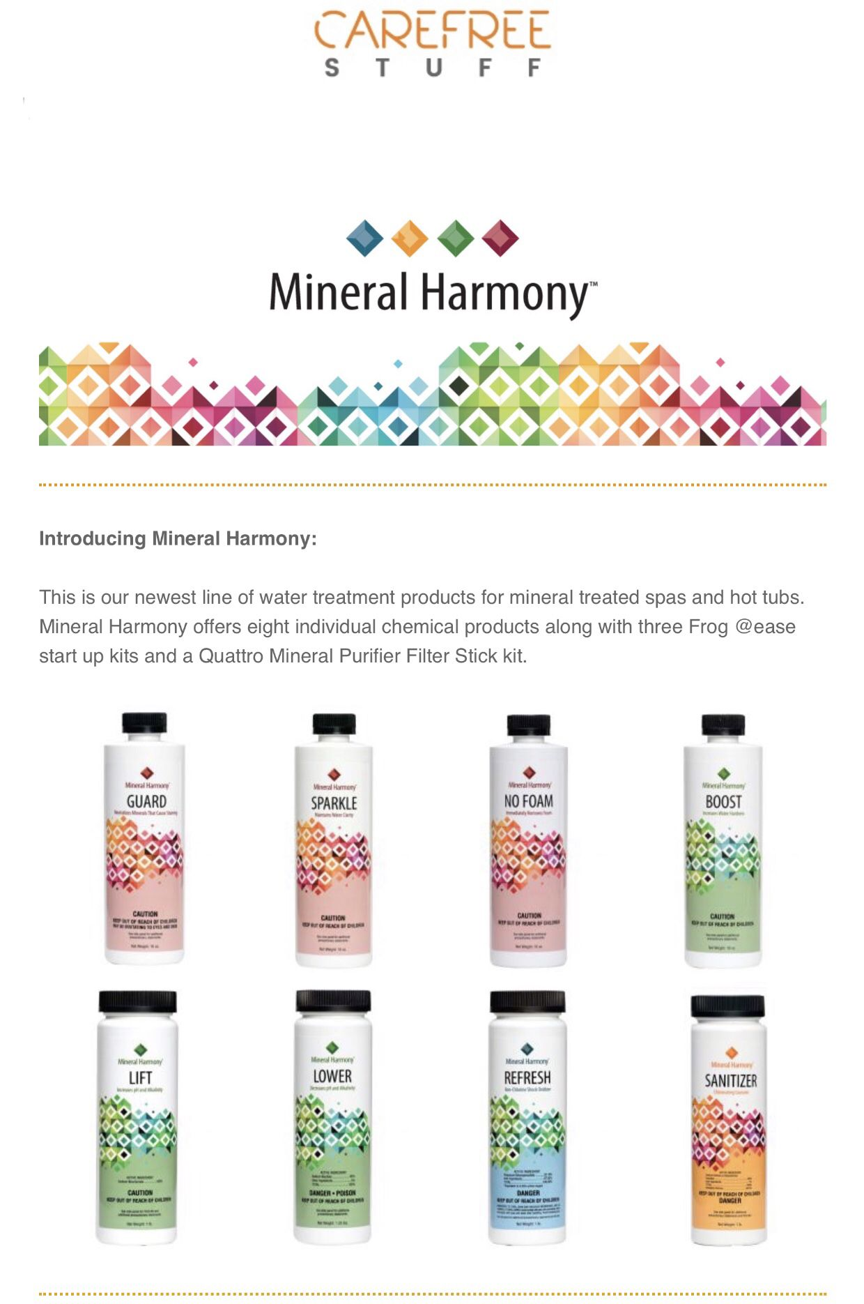 Pin By Carefree Stuff Spa And Hot Tu On Mineral Harmony Harmony