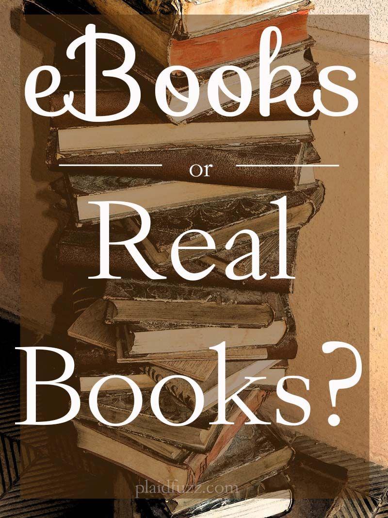 ebooks or real books
