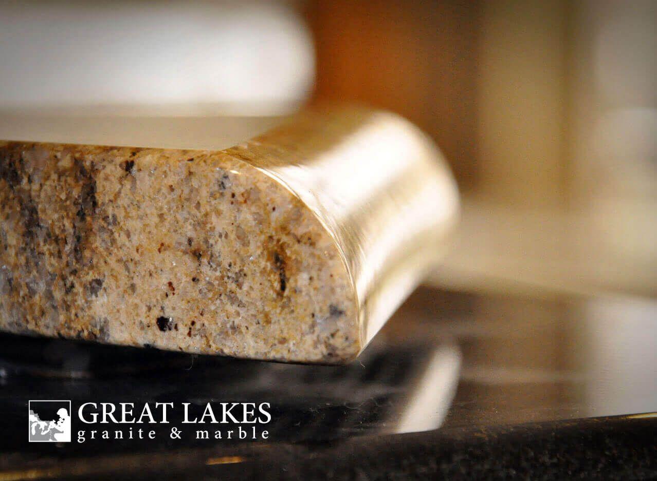 Half Bullnose Edge Profile Great Lakes Granite Marble Edge Profile Granite Edge Profiles Marble Granite