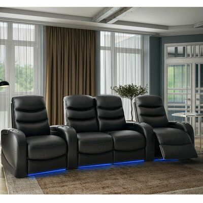 Winston Porter Stealth Hr Series Home Theatre Recliner Row Of 4 Body Fabric Smartsuede Scarlet In 2020 Home Theater Seating Theater Recliners Theater Seating