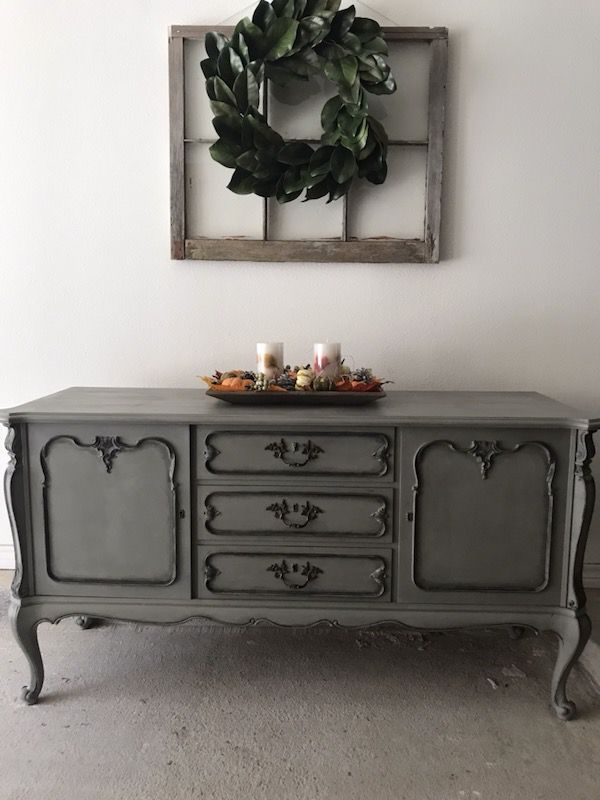 This Is A Refinish Antique Buffet Comes With A Key Length 60 1/2 Height 31  1/2 Width 19 1/2