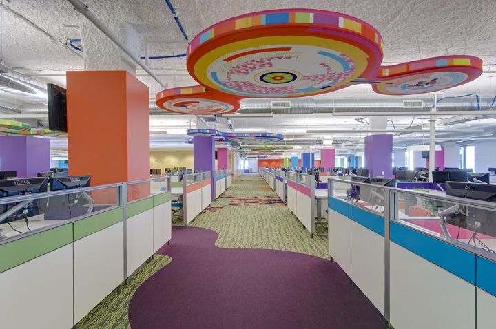 Quicken Loans Offices Detroit Office Design Colorful And