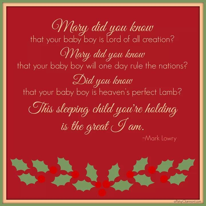 Mary did you Know? | Christmas reflections, The great i am, Christ centered christmas