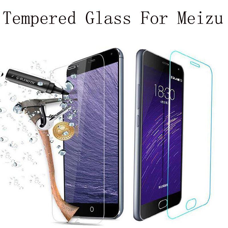 Screen protector premium-ausgeglichenes glas für meizu m2 mini m2 note2 m1 hinweis MX5 MX4 MX2 M3 Hinweis Metall MX4 Pro 5 6 MX6