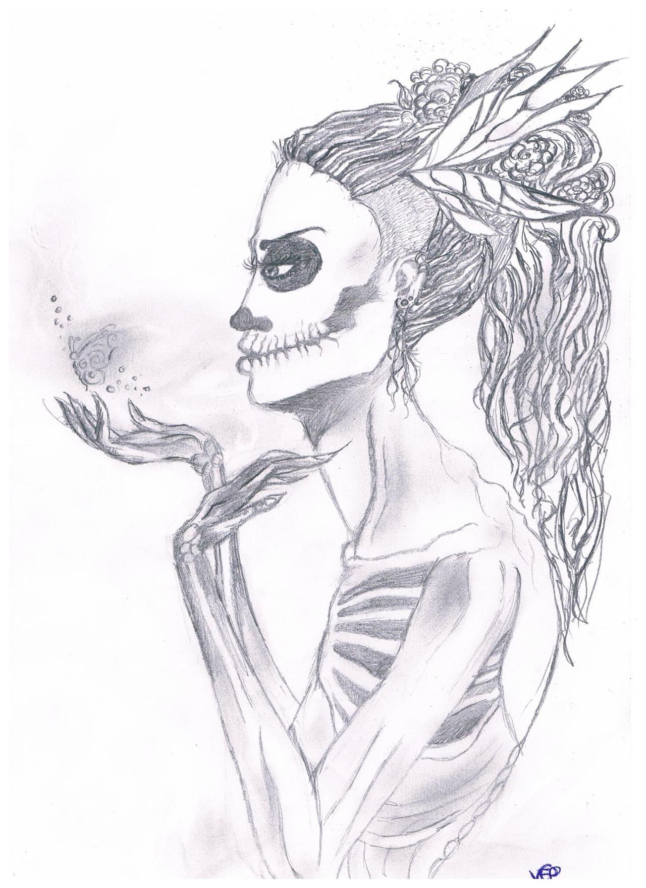 Картинки для срисовки скелетов
