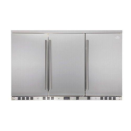 Amazon Com Kingsbottle 53 3 Door Front Venting Full Stainless Steel Bar Fridge For Outdoor Kitchen Applian Beverage Refrigerator Beverage Fridge Bar Fridges
