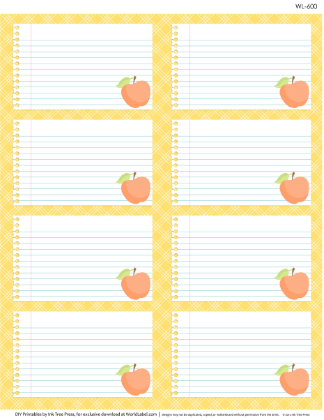 Free Printable Multi Use Labels For School Kids Teachers