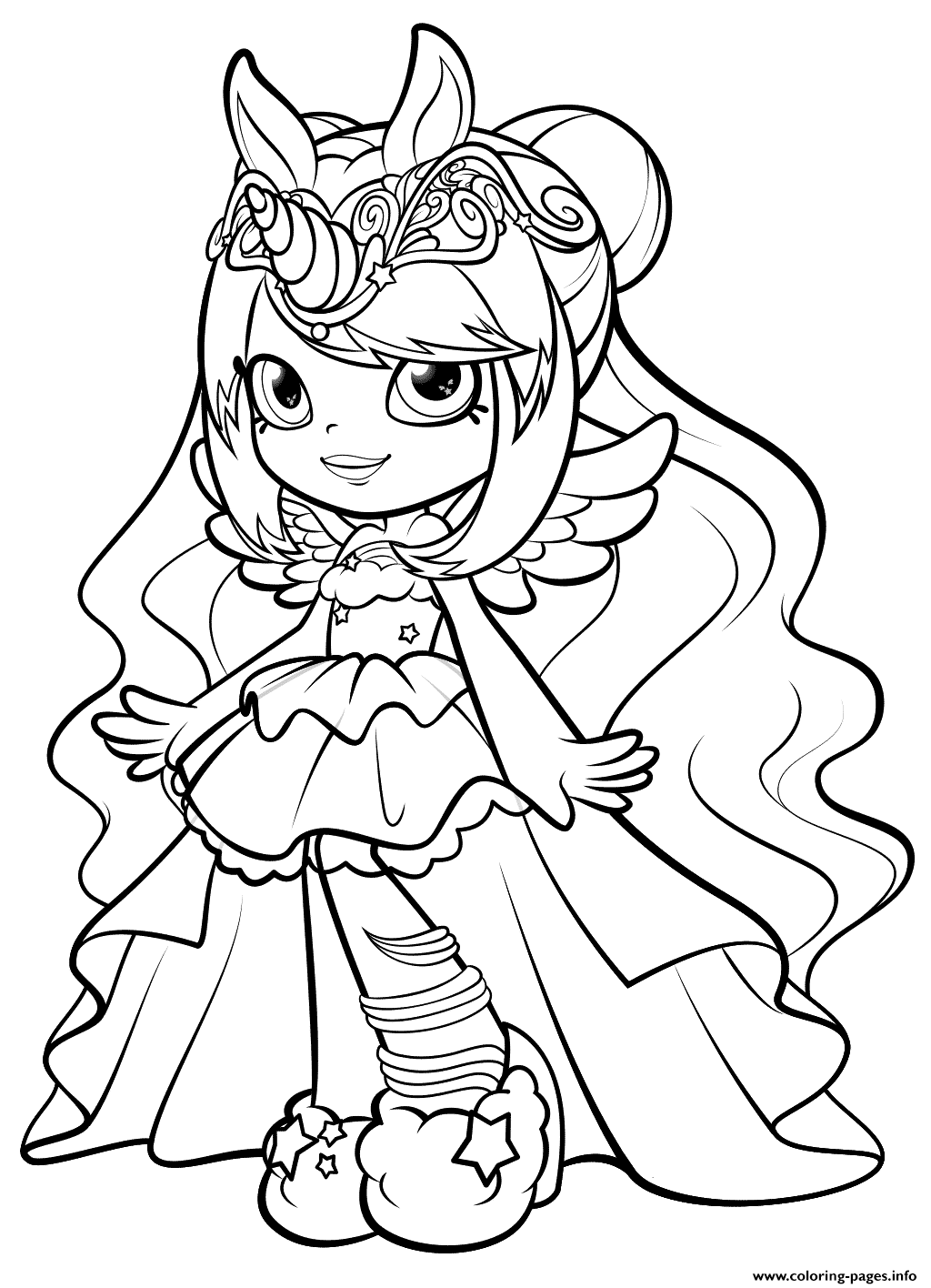 Print Shopkins Mysterbella Wild Style Shoppies Doll coloring pages