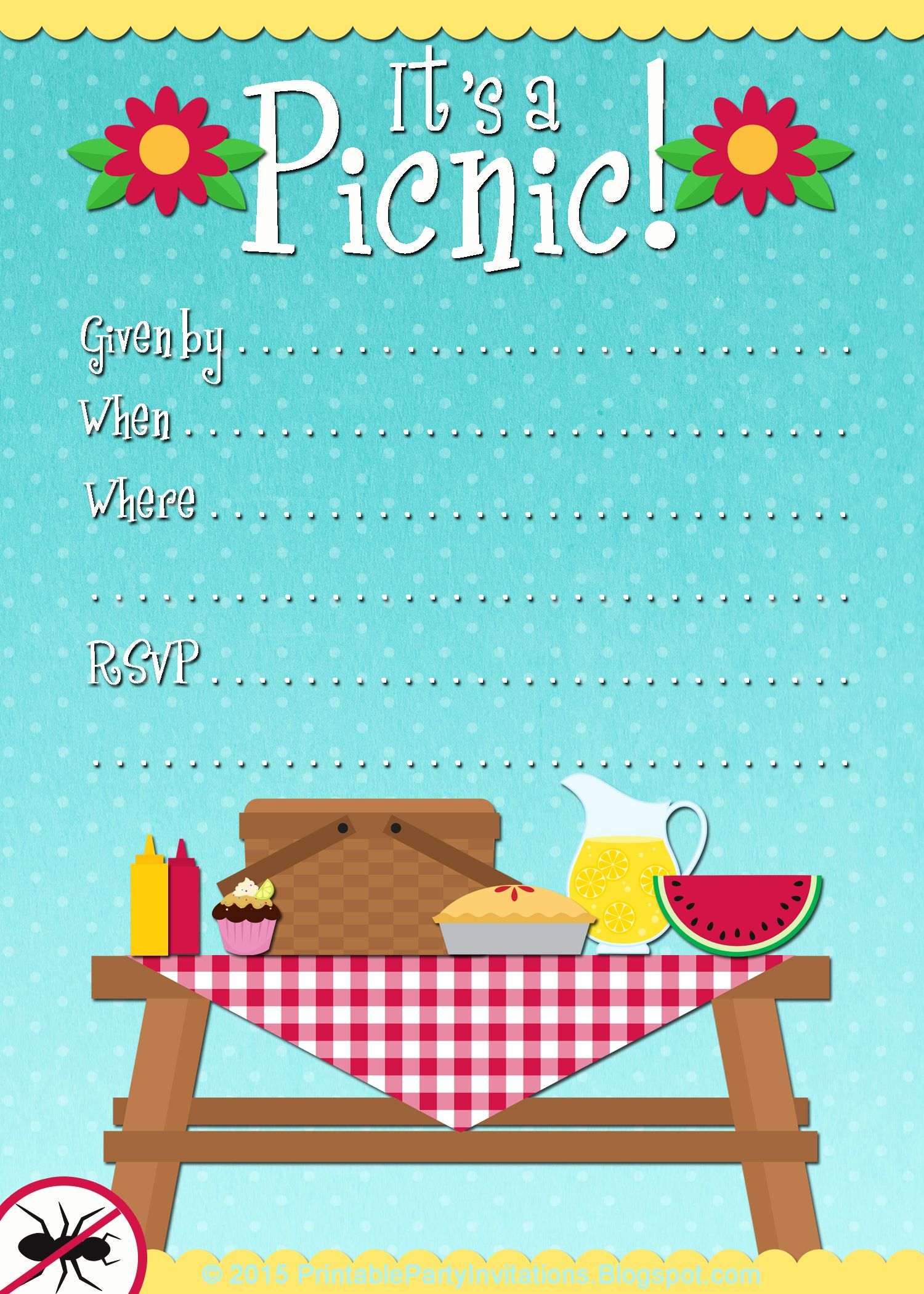 graphic regarding Free Printable Picnic Invitation Template identify Absolutely free Printable Picnic Invitation Template #picnicinvitation