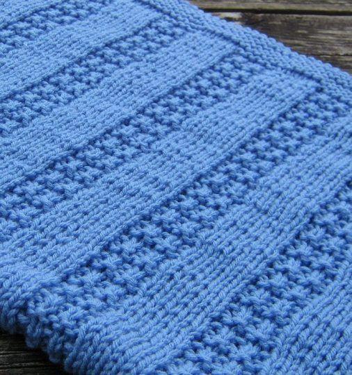 Free Knitting Pattern For Newborn Baby Blanket One Skein