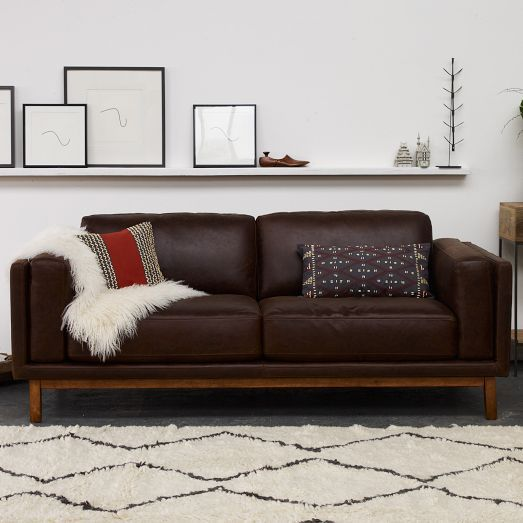 Surprising Dekalb Leather Sofa 85 In 2019 Brown Couch Living Room Theyellowbook Wood Chair Design Ideas Theyellowbookinfo