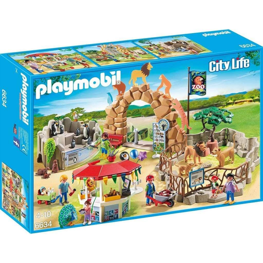 Playmobil City Life 6634 Mein Grosser Zoo Mit Lowengehege Spielzeug Spielset Playmobil Play Mobile The Zoo