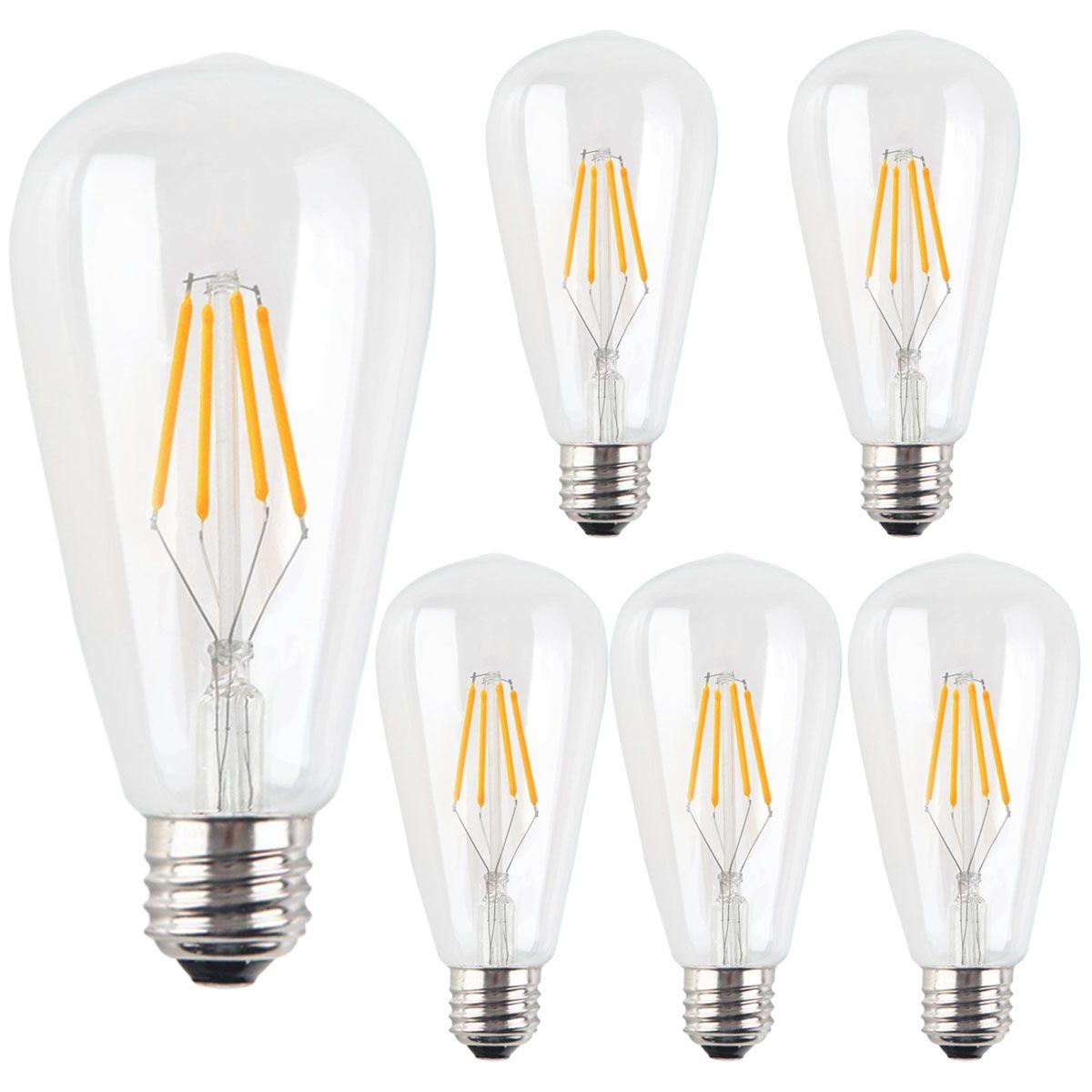 Santaro ST64 4W LED Bulb Edison Vintage E26 110V for US | LED Bulb ...