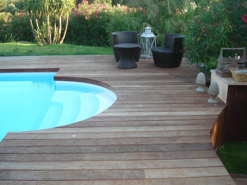 Terrasses piscine en Jattoba (2009) St Tropez Grimaud - Terrasse