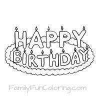 Happy Birthday Coloring Pages   Раскраски