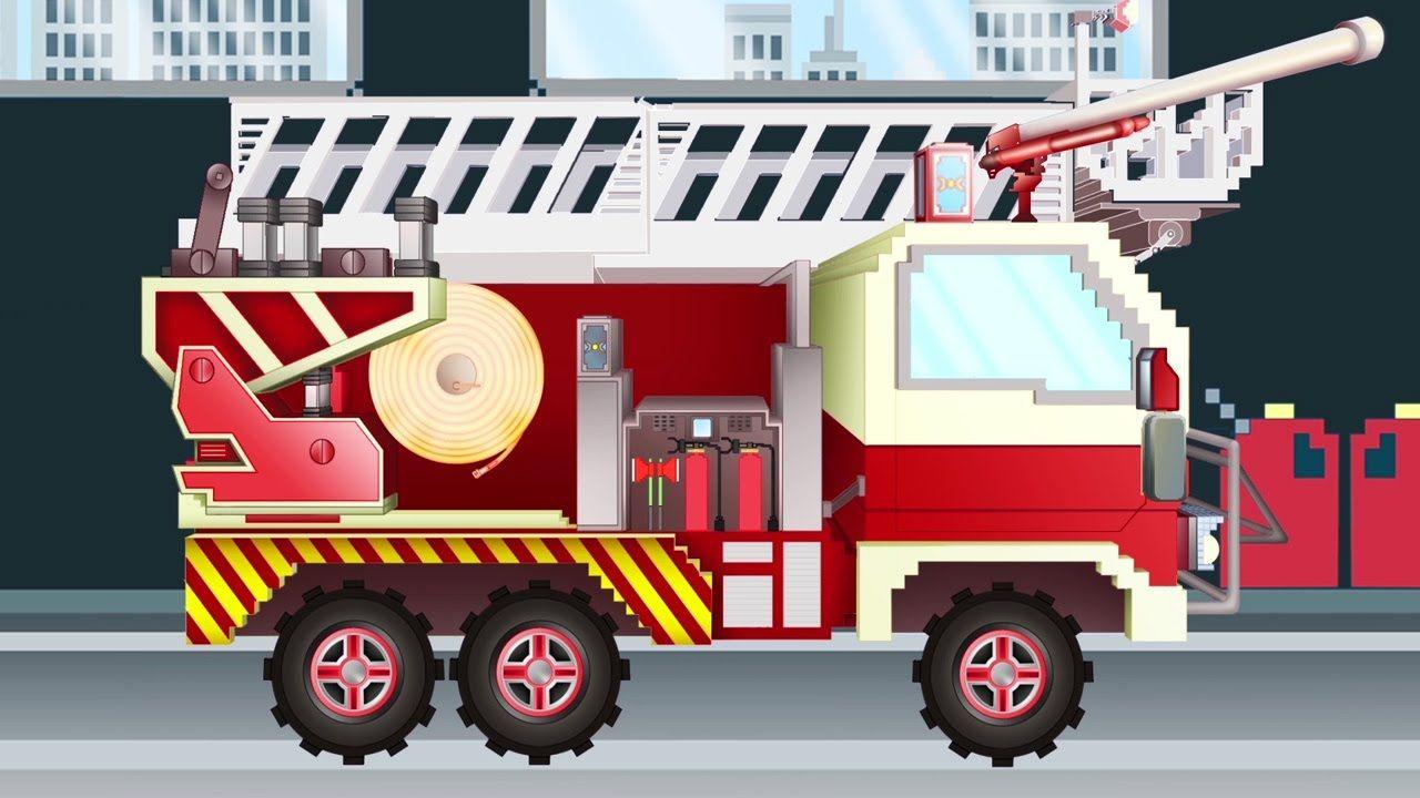 Camión de Bomberos - Pipo y su grúa | Dibujo animado como Minecraft ...