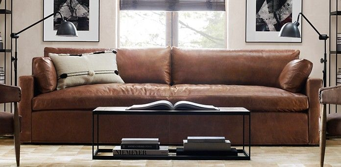 Belgian Track Arm Leather Sofa Restoration Hardware I Am In Love