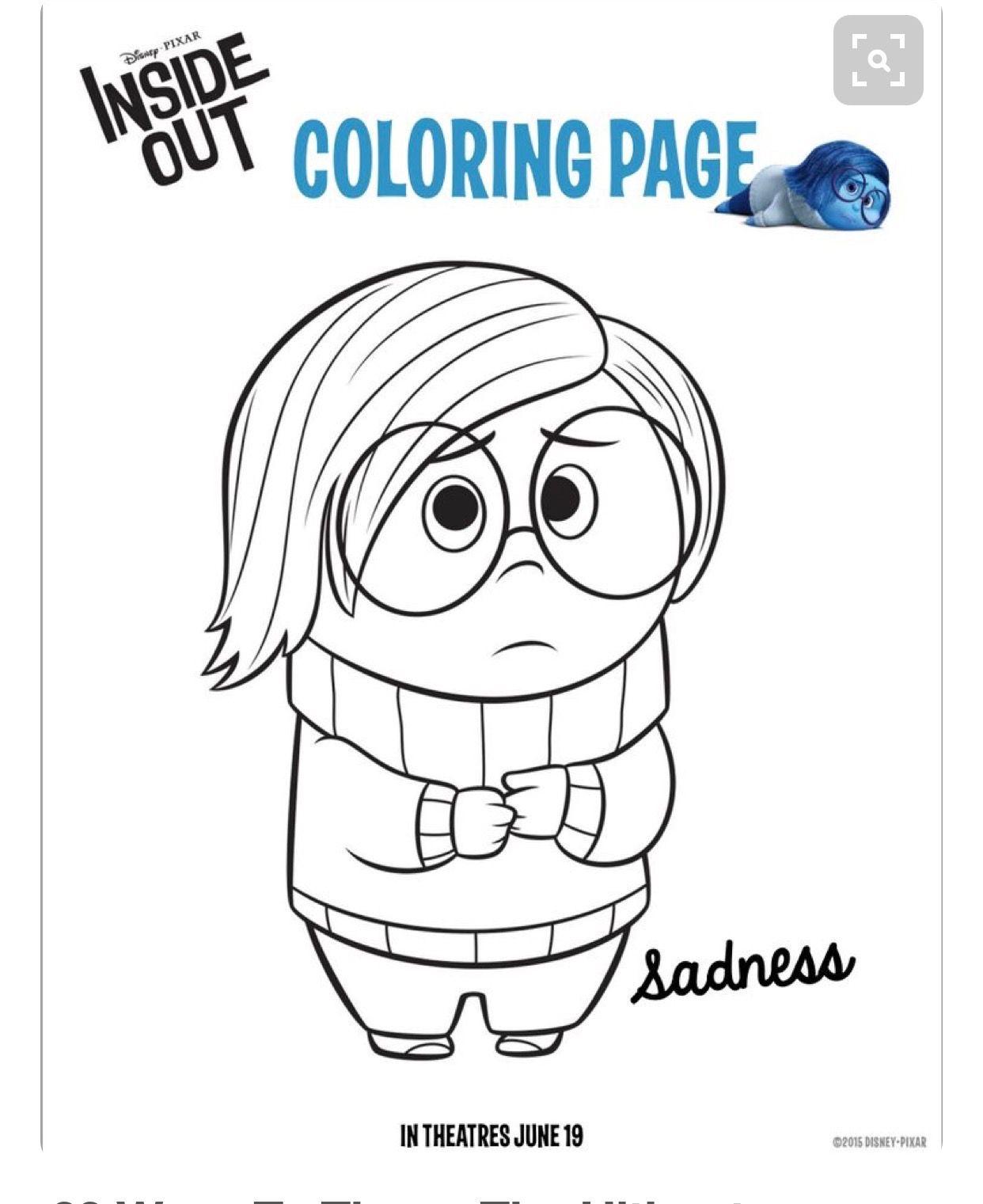 Pin By Eboni Haney On Feelings Inside Out Coloring Pages Coloring Pages For Kids Coloring Pages