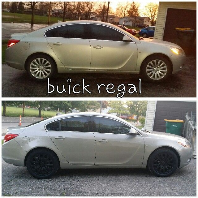 My 2011 Buick Regal Befor And After Plastidip Buick Regal Buick Automobile