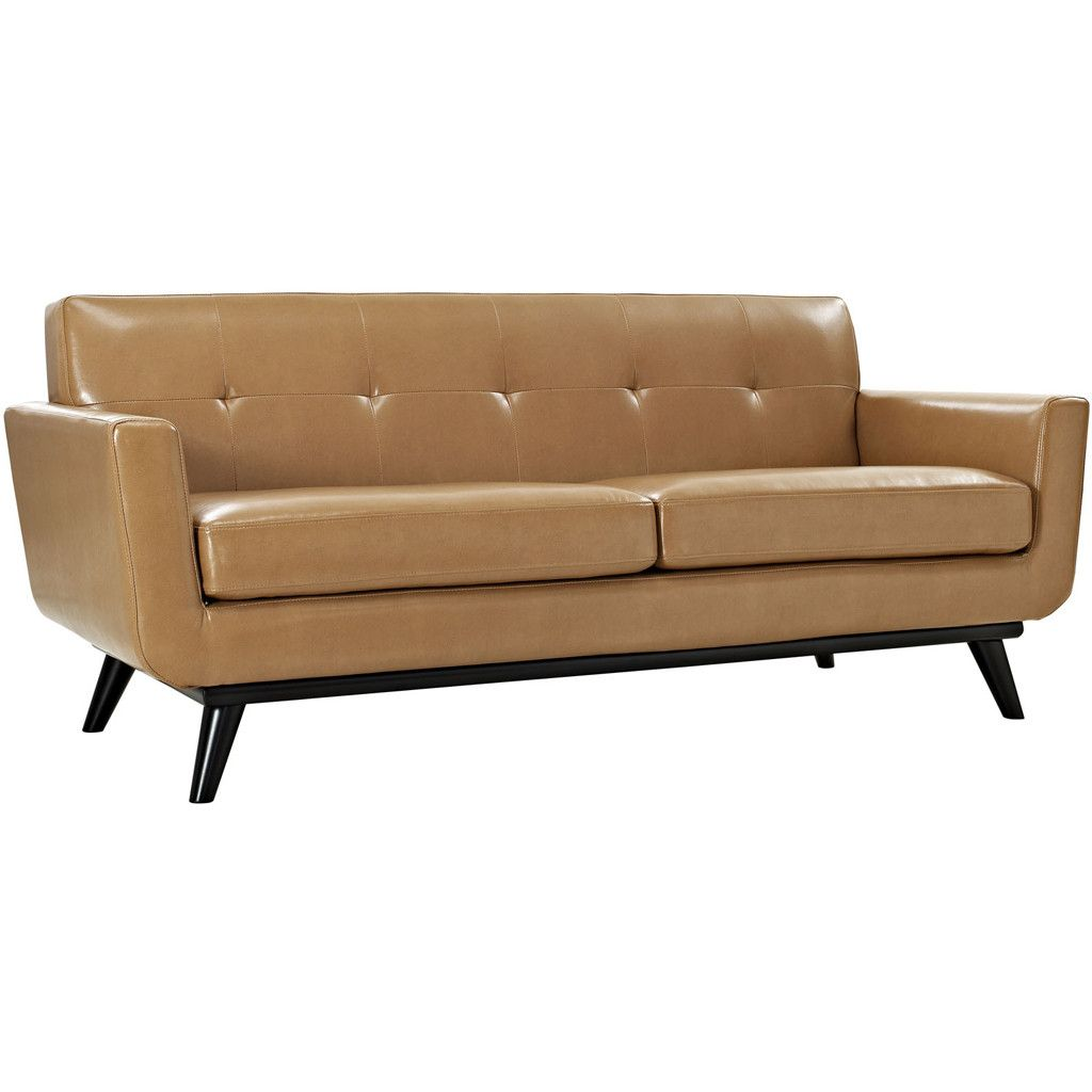 Emory Leather Loveseat Tan