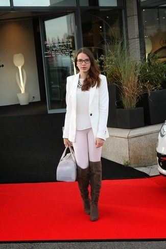Braune Overknee Stiefel für Damen kombinieren: Modetrends ...