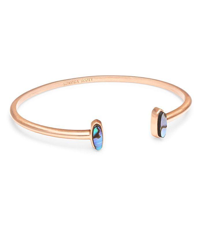 e6a28524323d1 Kendra Scott Mavis Rose Gold Cuff Bracelet in Abalone Shell ...