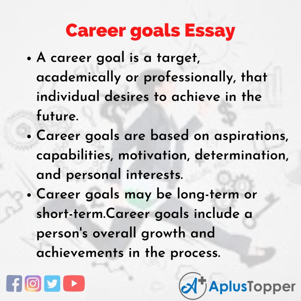 Careergoalsessay Essayoncareergoal In 2021 Career Goal Essay Questions Short Term And Long
