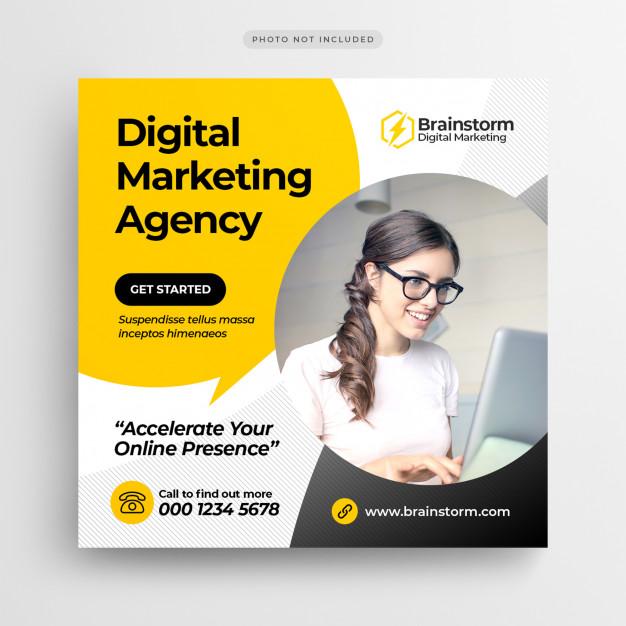 Digital Business Marketing Social Media Banner Or ...
