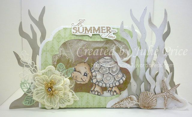 Harriett the Turtle from the Sea Breeze collection and the Seahorse template from Sandras Scrapsshop http://julieprice3.wordpress.com/2013/09/05/harriett-the-turtle/