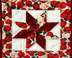 apple quilted star table runner