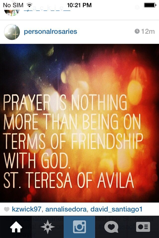A quote from Saint Teresa of Avila | Teresa of Avila Quotes | Saint