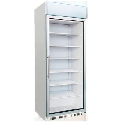 Armario congelador con puerta de cristal 600L. Worldmai
