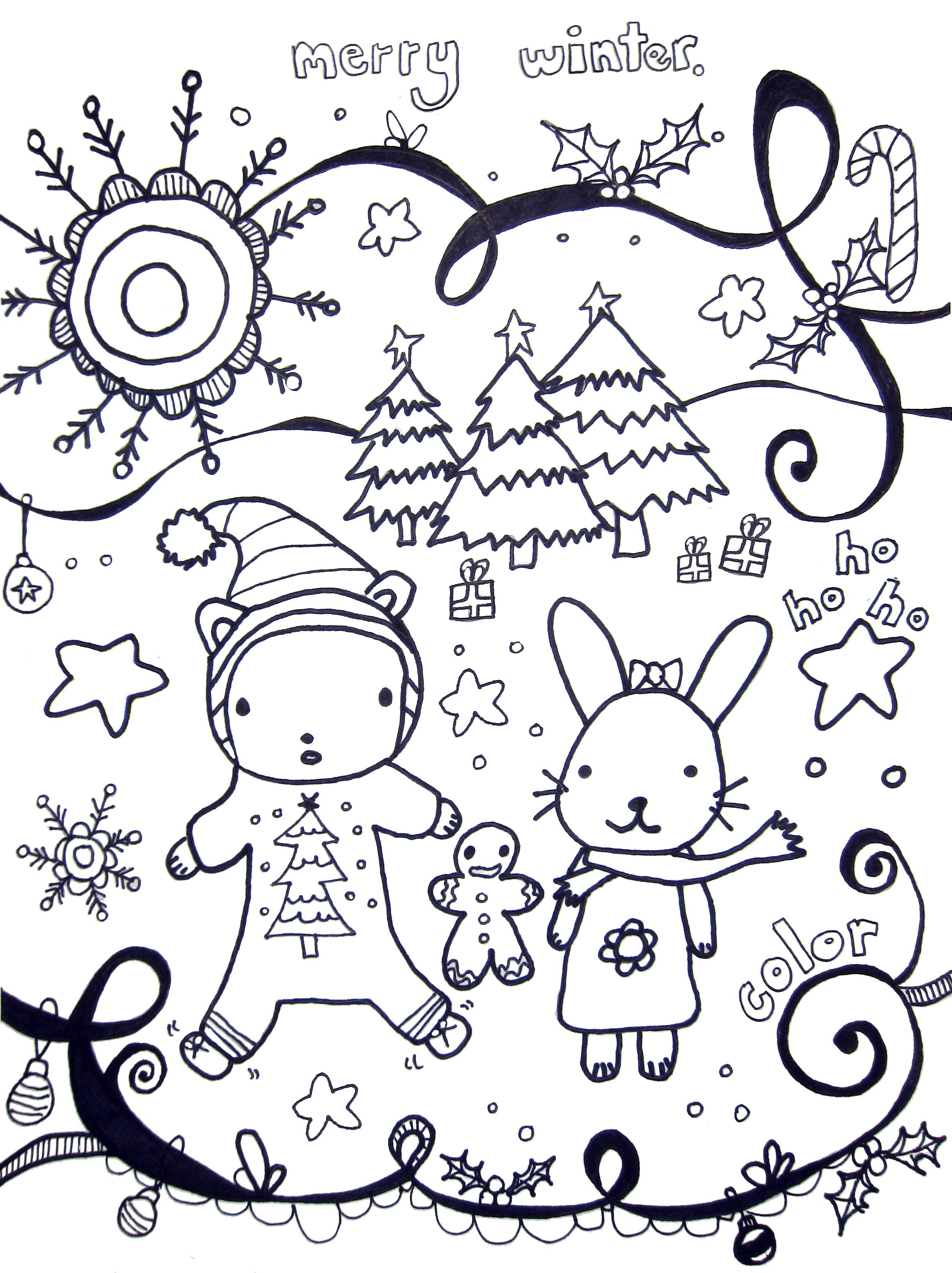 Winter Holidays Coloring Page Coloring Pages Winter Christmas Coloring Pages Coloring Pages For Kids