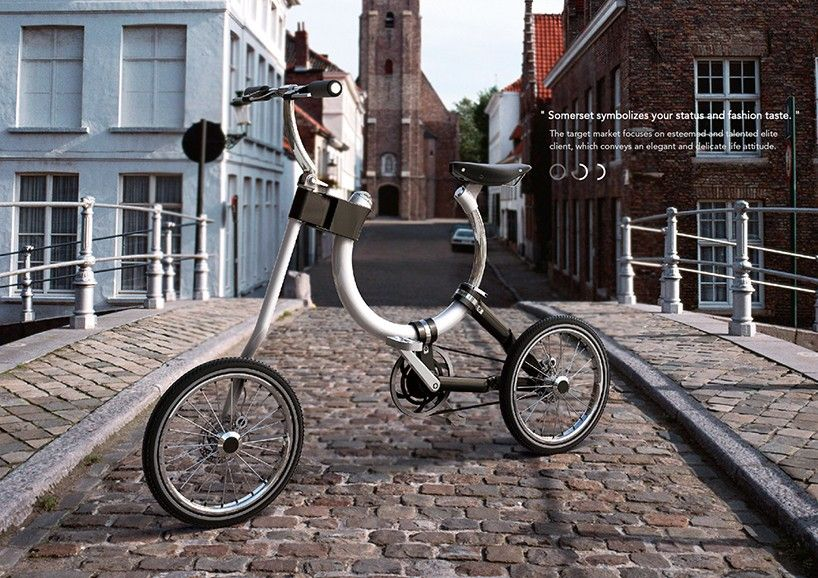 Foldable Somerset Bike with Oval-Shaped Frame