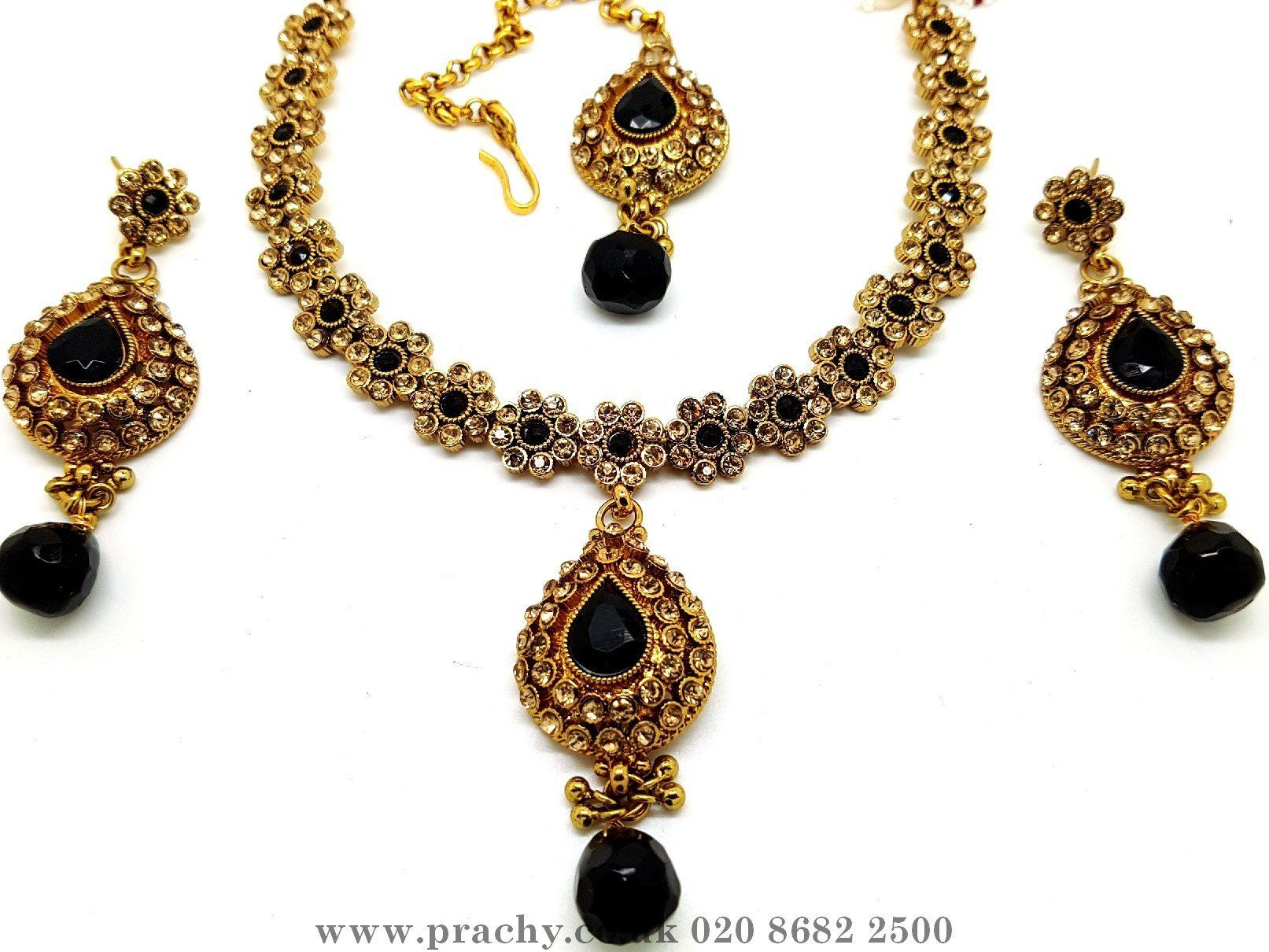 indian new necklace jewelry jewellery gold bollywood fashion set coker traditional
