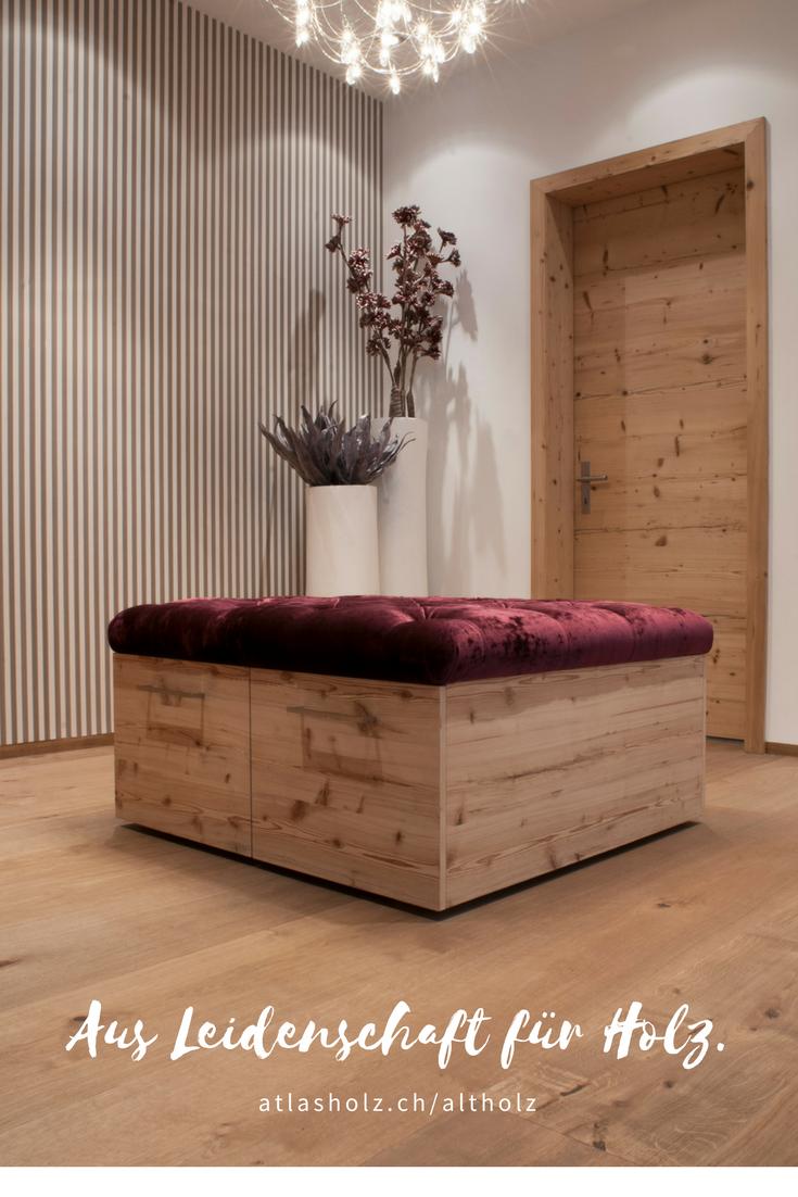 Türe und Möbel aus Altholz Fichte/Tanne gebürstet kombiniert mit ...