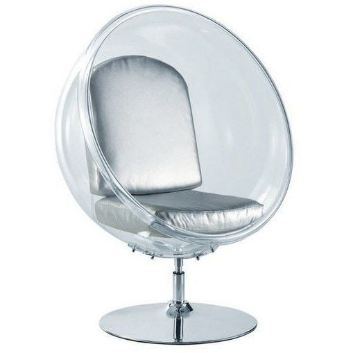 Fine Mod Imports FMI9993-white Ball Acrylic Chair in White