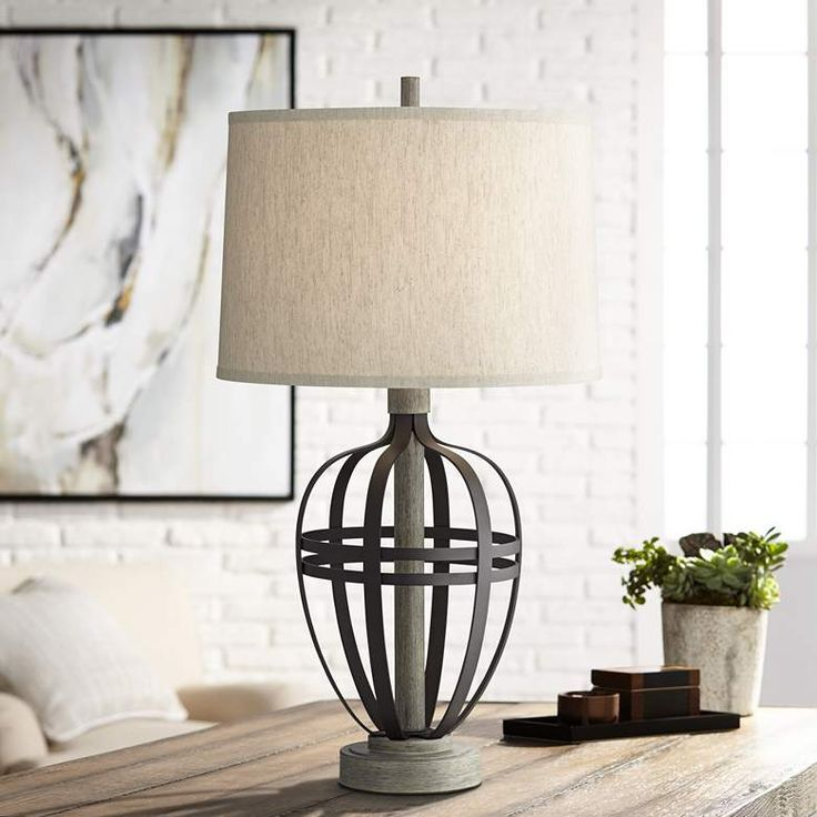Crestfield cove powder coated black table lamp with usb