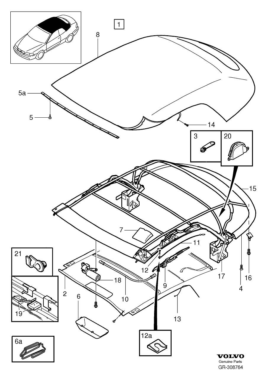 Soft top for 1999 volvo c70 convertible 2 5l 5 cylinder turbo volvo parts