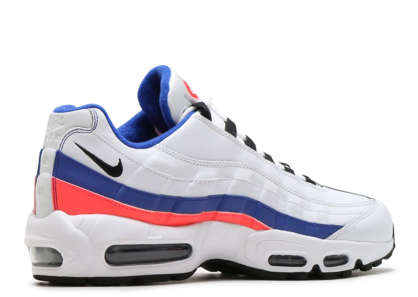 detailed look f387a 050d0 Sale Nike Air Max 95 Essential White Black Solar Red Ultramarine Trainers  UK Cheap Online