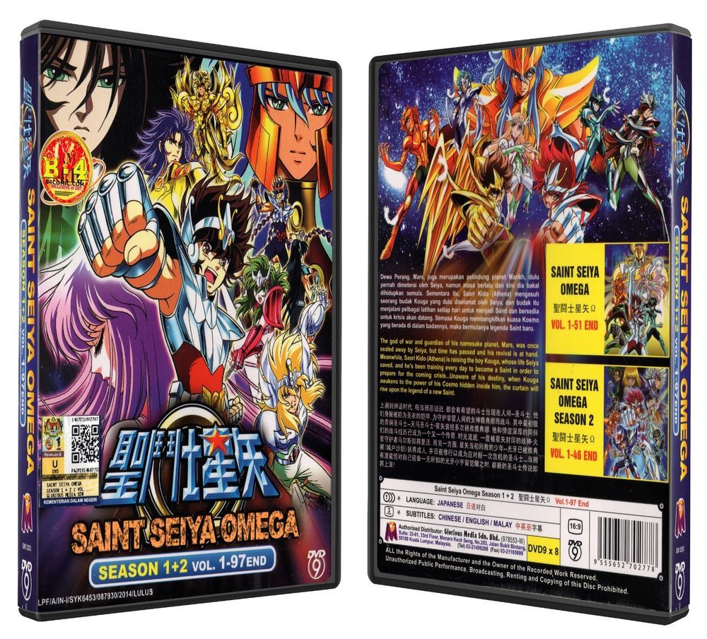 Saint Seiya Omega Season 1+2 Anime DVD Box Set Free Shipping