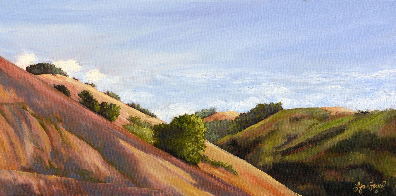 Landscape Painting Santa Ynez Landscape Painting Wine Country Mountain Painting Landscape Prints Land Landscape Prints Landscape Wall Art Mountain Wall Art