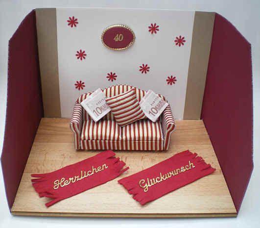 f r ein neues sofa geldgeschenke basteln money gifts. Black Bedroom Furniture Sets. Home Design Ideas